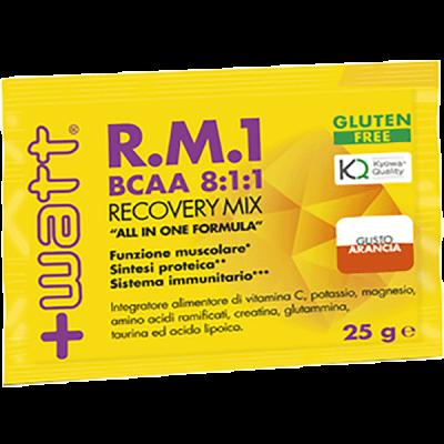 R.M.1 NEW FORMULA (BCAA 8:1:1) Monodose box 30pz x 25gr - www.PROTEIN-SHOP.it
