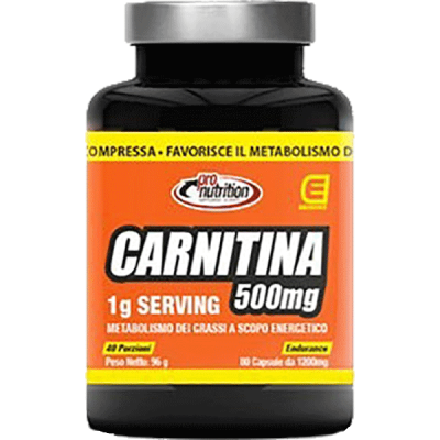 CARNITINA 500MG 80CPR - www.PROTEIN-SHOP.it